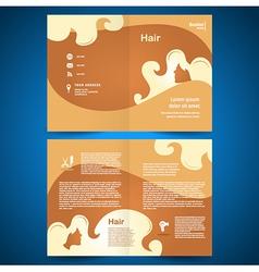 booklet catalog brochure folder hair salon beauty vector image vector image