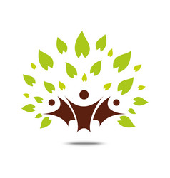green family tree sign and symbol eco concept vector image vector image