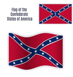 Rebel flag still and waving vector image