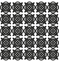 Seamless abstract geometric pattern with celtic vector image vector image