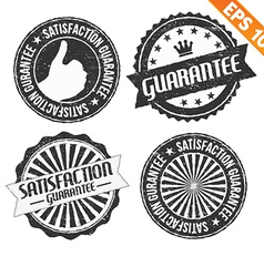 Stamp sticker guarantee collection - - EPS1 vector image vector image