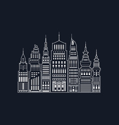 white silhouette modern big city line style vector image