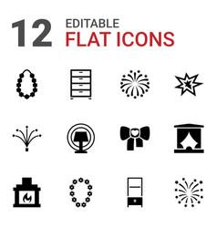 12 decor icons vector