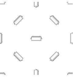 24 volt car battery icon outline style vector image