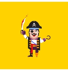 a pirate character for halloween in vector image