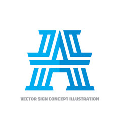 abstract logo letter a - concept vector image