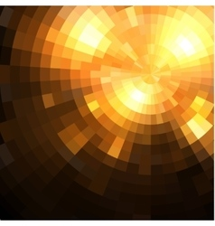 Abstract radial colorful sunset technology vector image