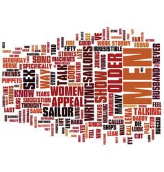 appeal older men text background word vector image