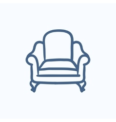Armchair sketch icon vector image