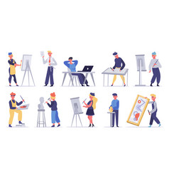 artists creative characters artistic professions vector image