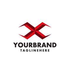 Attractive letter x logo symbol vector