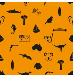 Australia country theme symbols seamless pattern vector