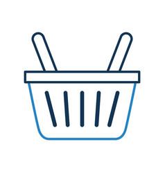 basket shopping isolated icon vector image