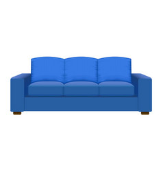 blue vintage sofa mockup realistic style vector image