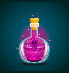 bottle of magic elixir with skull-2 vector image