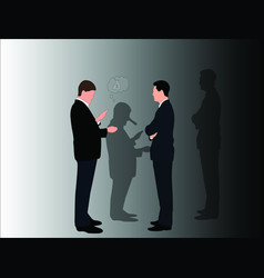 Business man lie image vector