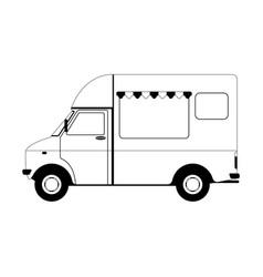 Cargo van ice cream vector