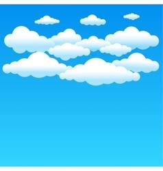 cartoon blue clouds vector image