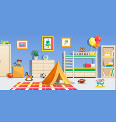 children room interior horizontal vector image