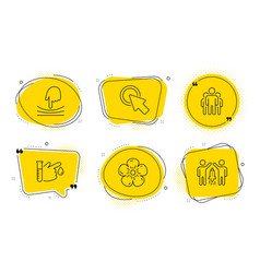 Click here blood donation and group icons set vector