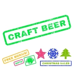Craft Beer Rubber Stamp vector