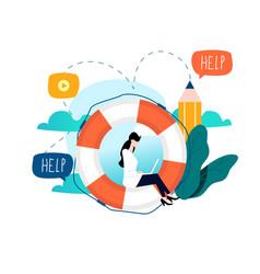 customer service customer assistance vector image