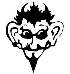 Devil face stencil vector