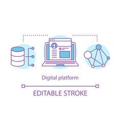 digital technology platform concept icon vector image