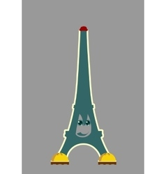 Eiffel tower in Paris Funny character vector image