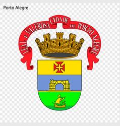 Emblem porto alegre city brazil vector