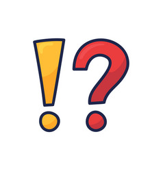 exclamation mark and question mark sign icon vector image