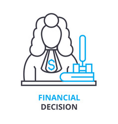 financial decision concept outline icon linear vector image