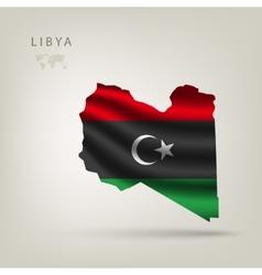 Flag libya as country vector