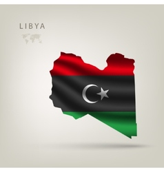 flag of Libya as the country vector image