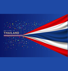 flag of thailand banner with colorful paper vector image