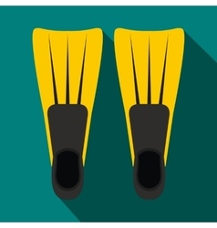 Flippers for diving icon flat style vector image