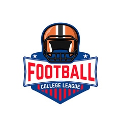 football league College league vector image
