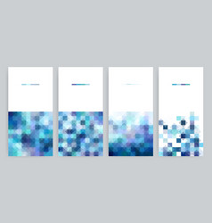 Four banner with abstract geometric backgrounds vector