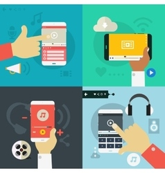 Gadgets concept banners vector