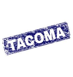 Grunge tacoma framed rounded rectangle stamp vector