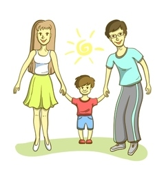 Happy Family On White Background vector image
