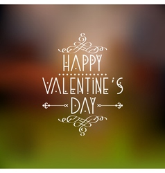 Happy valentines day card design with calligraphic vector