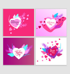 happy valentines day cards template with in love vector image