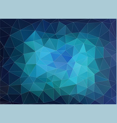 horizontal blue polygonal banner vector image vector image