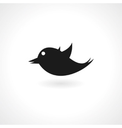 icon bird vector image