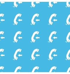 Incoming call straight pattern vector