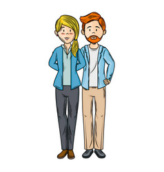 Isolated young couple vector