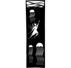 Jellyfish Swim vector image