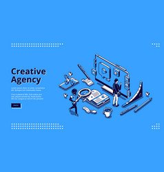 landing page for creative agency vector image