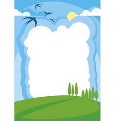 landscape poster vector image